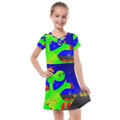 Dragon Grisu Mythical Creatures Kids  Cross Web Dress