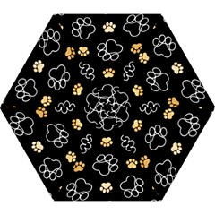 Dog Pawprint Tracks Background Pet Mini Folding Umbrellas by Nexatart