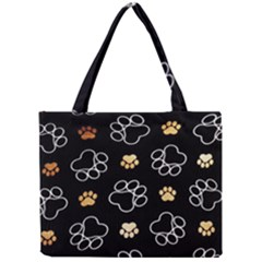 Dog Pawprint Tracks Background Pet Mini Tote Bag