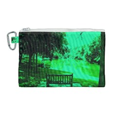 Hot Day In Dallas 24 Canvas Cosmetic Bag (large)