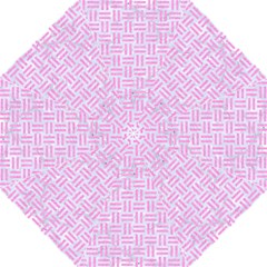 Woven1 White Marble & Pink Colored Pencil (r) Straight Umbrellas