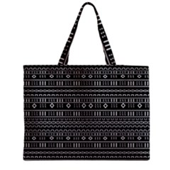 Black Modern Mudcloth Medium Tote Bag