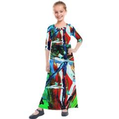 Depression 4 Kids  Quarter Sleeve Maxi Dress