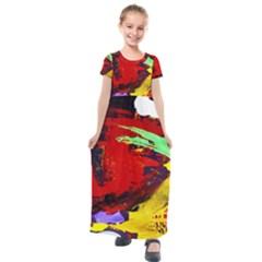 Balboa   Island On A Sand 19 Kids  Short Sleeve Maxi Dress