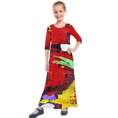 Balboa   Island On A Sand 19 Kids  Quarter Sleeve Maxi Dress