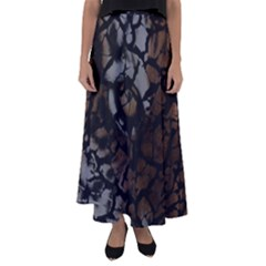 Earth Texture Tiger Shades Flared Maxi Skirt