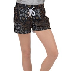Earth Texture Tiger Shades Women s Velour Lounge Shorts