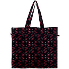Intricate Polygons Pattern Canvas Travel Bag by dflcprints