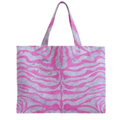 Skin2 White Marble & Pink Colored Pencil (r) Zipper Mini Tote Bag by trendistuff