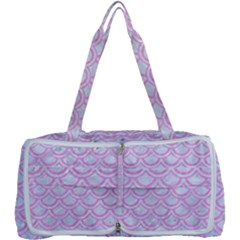 Scales2 White Marble & Pink Colored Pencil (r) Multi Function Bag