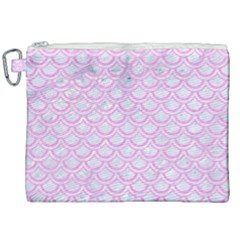 Scales2 White Marble & Pink Colored Pencil (r) Canvas Cosmetic Bag (xxl) by trendistuff