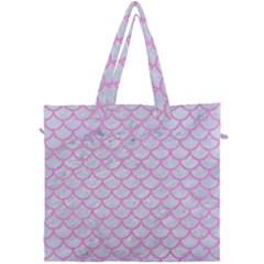 Scales1 White Marble & Pink Colored Pencil (r) Canvas Travel Bag by trendistuff