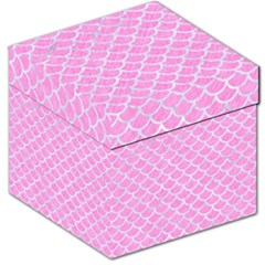 Scales1 White Marble & Pink Colored Pencil Storage Stool 12   by trendistuff