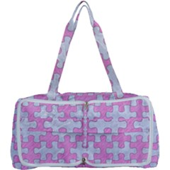 Puzzle1 White Marble & Pink Colored Pencil Multi Function Bag
