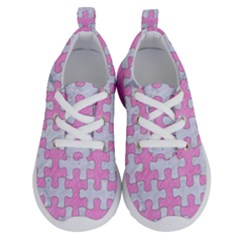 Puzzle1 White Marble & Pink Colored Pencil Running Shoes