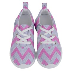 Chevron9 White Marble & Pink Colored Pencil (r) Running Shoes