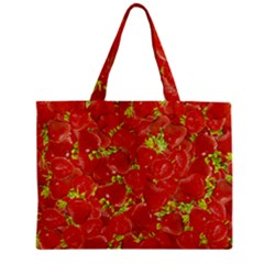 Strawberry Zipper Mini Tote Bag by eyeconart