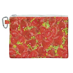 Strawberry Canvas Cosmetic Bag (xl) by eyeconart