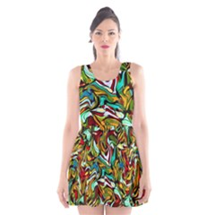 Artwork By Patrick Colorful 46 Scoop Neck Skater Dress