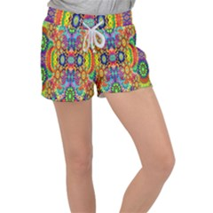Artwork By Patrick Colorful 47 Women s Velour Lounge Shorts
