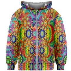 Artwork By Patrick Colorful 47 Kids Zipper Hoodie Without Drawstring