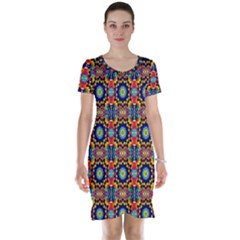 Artwork By Patrick Colorful 47 1 Short Sleeve Nightdress