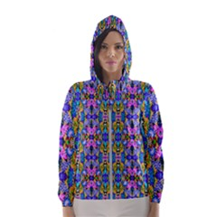 Artwork By Patrick Colorful 48 Hooded Windbreaker (women)