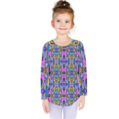 Artwork By Patrick Colorful 48 Kids  Long Sleeve Tee