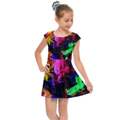 Global Warming 1 Kids Cap Sleeve Dress