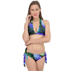 Lilac And Lillies 1 Tie It Up Bikini Set