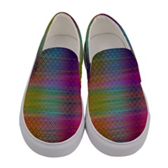 Colorful Sheet Women s Canvas Slip Ons