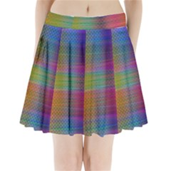 Colorful Sheet Pleated Mini Skirt