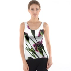 Purple Carnations From A Distance Tank Top