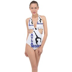 Jay3new Copy Halter Front Plunge Swimsuit