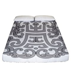 Chinese Traditional Pattern Fitted Sheet (california King Size)