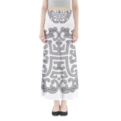 Chinese Traditional Pattern Full Length Maxi Skirt