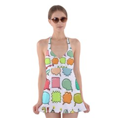 Set Collection Balloon Image Halter Dress Swimsuit