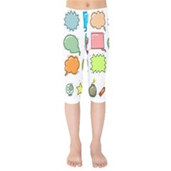 Set Collection Balloon Image Kids  Capri Leggings
