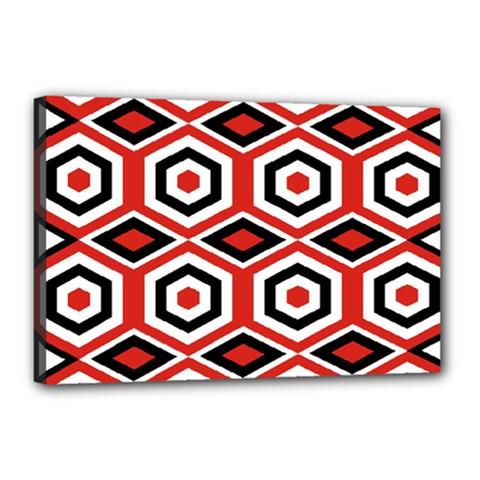 Motif Batik Design Decorative Canvas 18  X 12