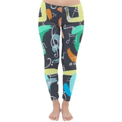 Repetition Seamless Child Sketch Classic Winter Leggings