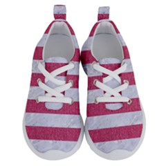 Stripes2white Marble & Pink Denim Running Shoes