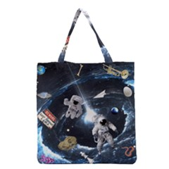We Found Laika Grocery Tote Bag by Valentinaart