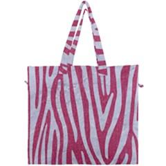 Skin4 White Marble & Pink Denim (r) Canvas Travel Bag by trendistuff