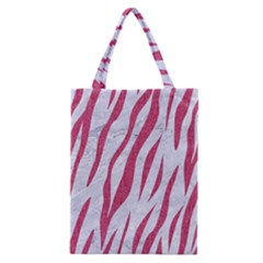 Skin3 White Marble & Pink Denim (r) Classic Tote Bag by trendistuff