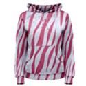 SKIN3 WHITE MARBLE & PINK DENIM (R) Women s Pullover Hoodie View1