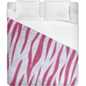 SKIN3 WHITE MARBLE & PINK DENIM (R) Duvet Cover (California King Size) View1