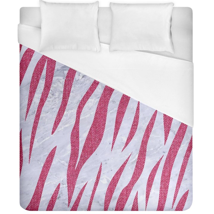 SKIN3 WHITE MARBLE & PINK DENIM (R) Duvet Cover (California King Size)