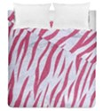 SKIN3 WHITE MARBLE & PINK DENIM (R) Duvet Cover Double Side (Queen Size) View1