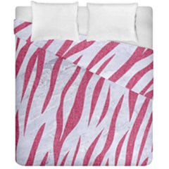 Skin3 White Marble & Pink Denim (r) Duvet Cover Double Side (california King Size)