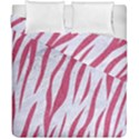 SKIN3 WHITE MARBLE & PINK DENIM (R) Duvet Cover Double Side (California King Size) View1